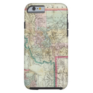 Map Of The Territory Of Montana Tough iPhone 6 Case