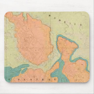 Map Of The Uinkaret Plateau Mouse Pad