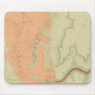 Map Of The Uinkaret Plateau South Half Mouse Pad