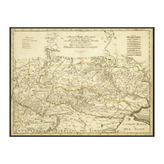 Map of the Ukraine by Guillaume Sanson (1674) Canvas Print