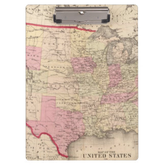 Map of the United States 5 Clipboard