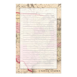Map of the United States 5 Stationery
