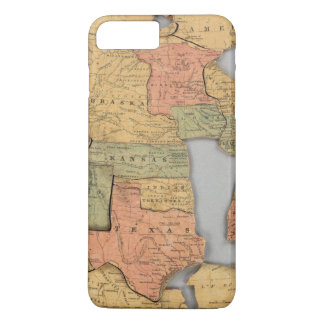 Map of the United States and Canada iPhone 7 Plus Case