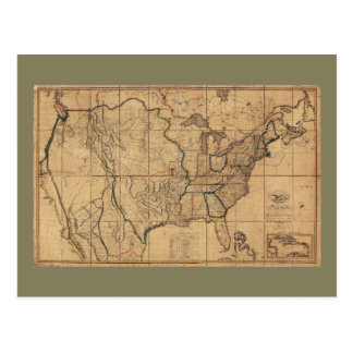 Map of the United States by John Melish (1818) Postcard