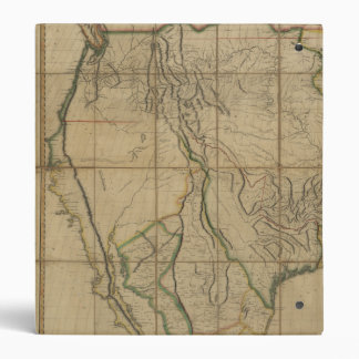 Map of the United States of America (1818) 3 Ring Binder