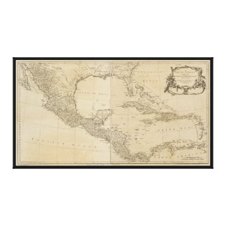 Map of the West Indies by Sayer & Jefferys (1760) Canvas Print