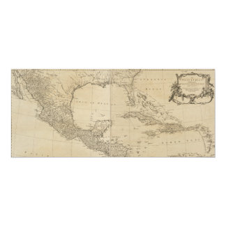 Map of the West Indies by Sayer & Jefferys (1760) Card