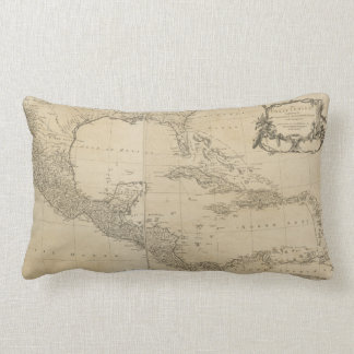 Map of the West Indies by Sayer & Jefferys (1760) Lumbar Pillow
