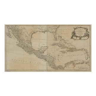 Map of the West Indies by Sayer & Jefferys (1760) Poster