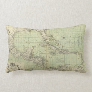 Map of the West Indies by William Guthrie (1777) Lumbar Pillow