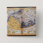 Map of the world, 1486 2 inch square button