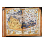 Map of the world, 1486 postcard