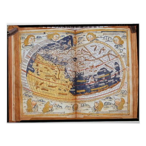 Map of the world, 1486 poster