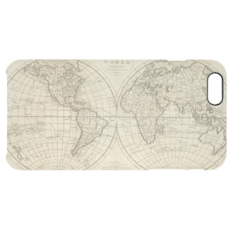 Map of the World 2 Clear iPhone 6 Plus Case