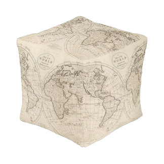 Map of the World 2 Pouf