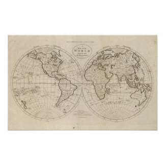 Map of the World 3 Poster