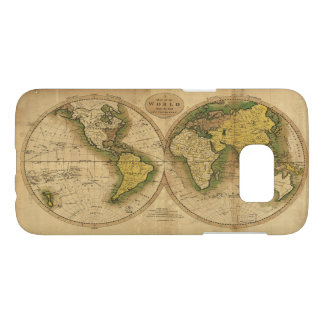 Map of the World by Mathew Carey (1795) Samsung Galaxy S7 Case