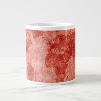 Map of the World in Red Large Coffee Mug