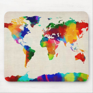 Map of the World Map from Old Sheet Music Mouse Pad
