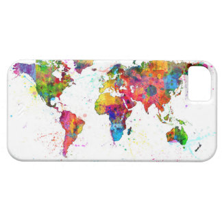 Map of the World Map Watercolor iPhone 5 Cover