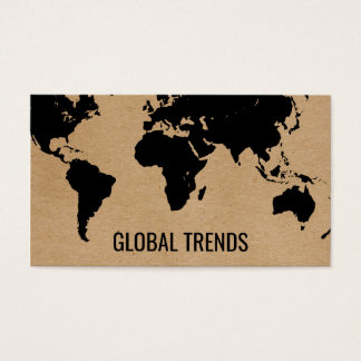 Map of the World | Natural 2 Business Card