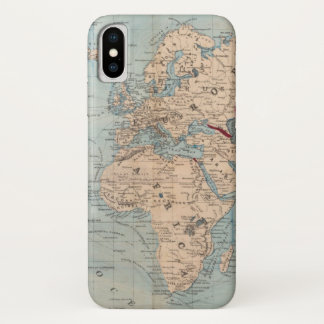 Map of the world on Mercator's projection Case-Mate iPhone Case
