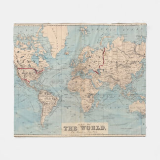 World Map Fleece Blankets World Map Blanket Designs - World map blanket