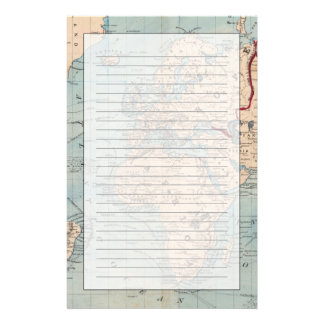 Map of the world on Mercator's projection Stationery Design
