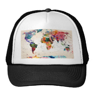 Map of the world trucker hat