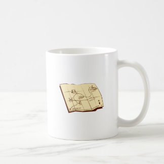 Map of Trail with X Marks The Spot Woodcut Coffee Mug