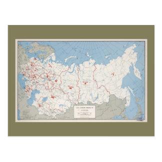 Map of U.S.S.R., Economic Regions (1971) Postcard