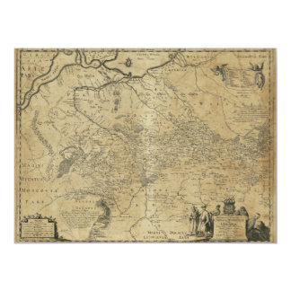 Map of Ukraine (1648) Card