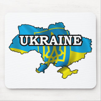 Map Of Ukraine Mouse Pad