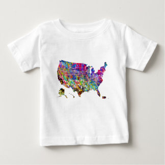 Map of USA Baby T-Shirt