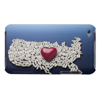 Map of USA made of pills with red heart Case-Mate iPod Touch Case