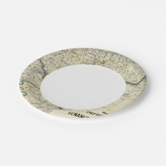 Map of Venango County Oil Regions 7 Inch Paper Plate