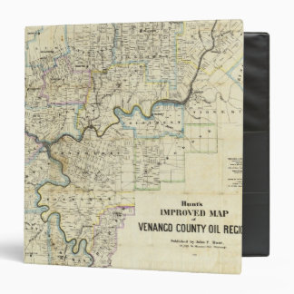 Map of Venango County Oil Regions Vinyl Binders