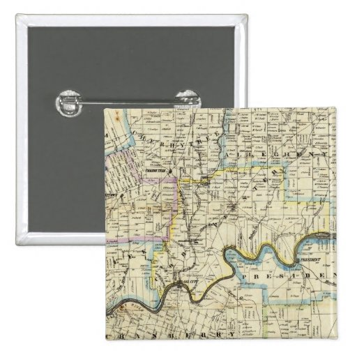 Map of Venango County Oil Regions Buttons