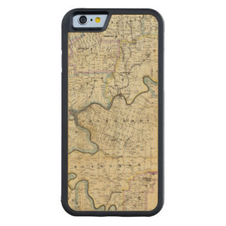 Map of Venango County Oil Regions Carved® Maple iPhone 6 Bumper Case