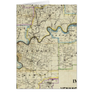 Map of Venango County Oil Regions Greeting Card