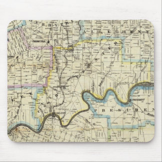 Map of Venango County Oil Regions Mouse Pad