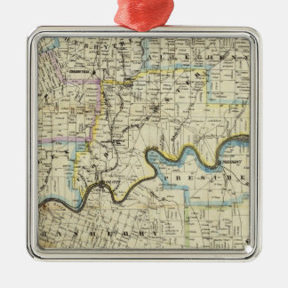 Map of Venango County Oil Regions Christmas Ornament
