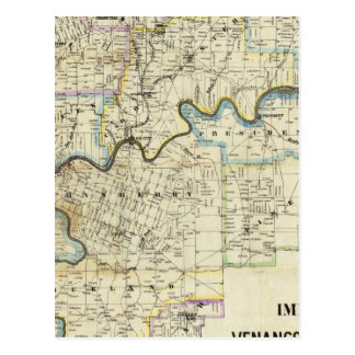 Map of Venango County Oil Regions Post Card