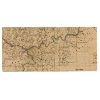 Map of Venango County Oil Regions Wood USB 2.0 Flash Drive