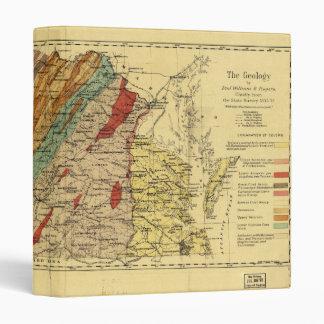 Map of Virginia by Jedediah Hotchkiss (1874) 3 Ring Binder