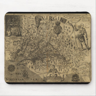 Map of Virginia by John Smith (1624) Mouse Pad