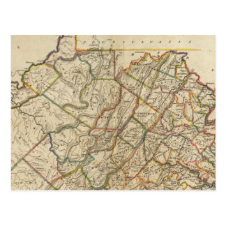 Map of Virginia Postcard