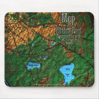 Map of Walden Pond & Surrounding Area Mouse Pad
