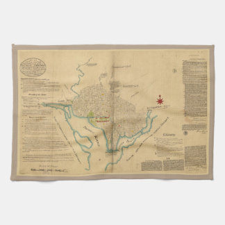 Map of Washington D.C. (1791) Kitchen Towel