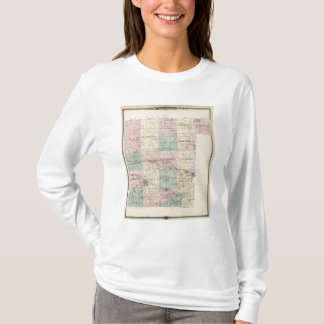 Map of Waupaca County, State of Wisconsin T-Shirt
